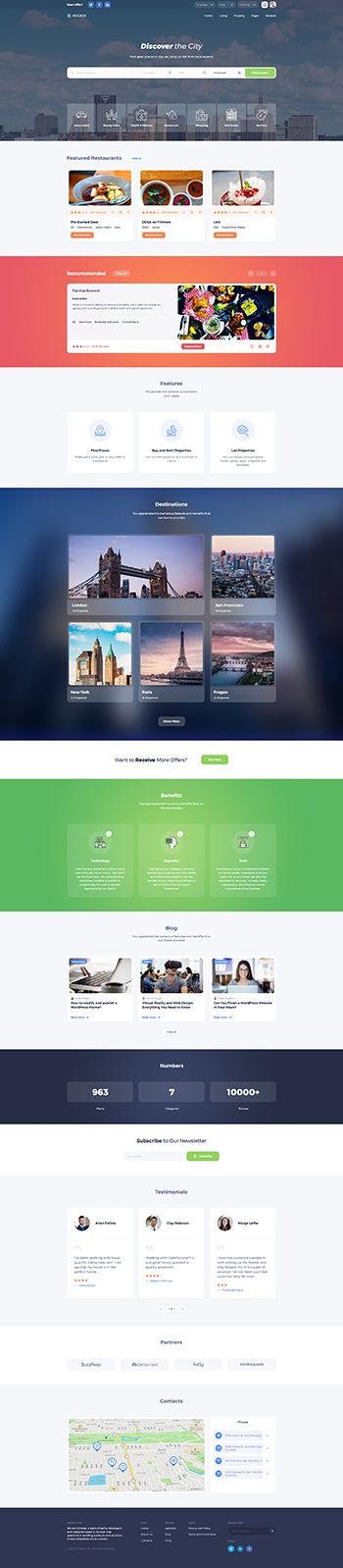 best places wordpress theme