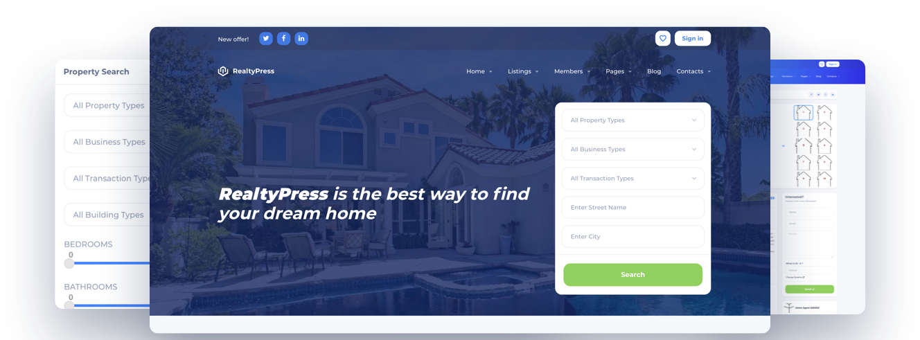 best realtypress crea ddf wordpress theme