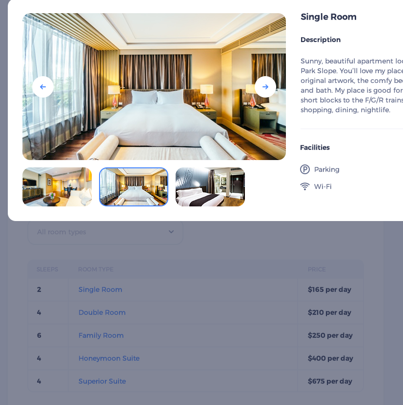 Single room wordpress theme
