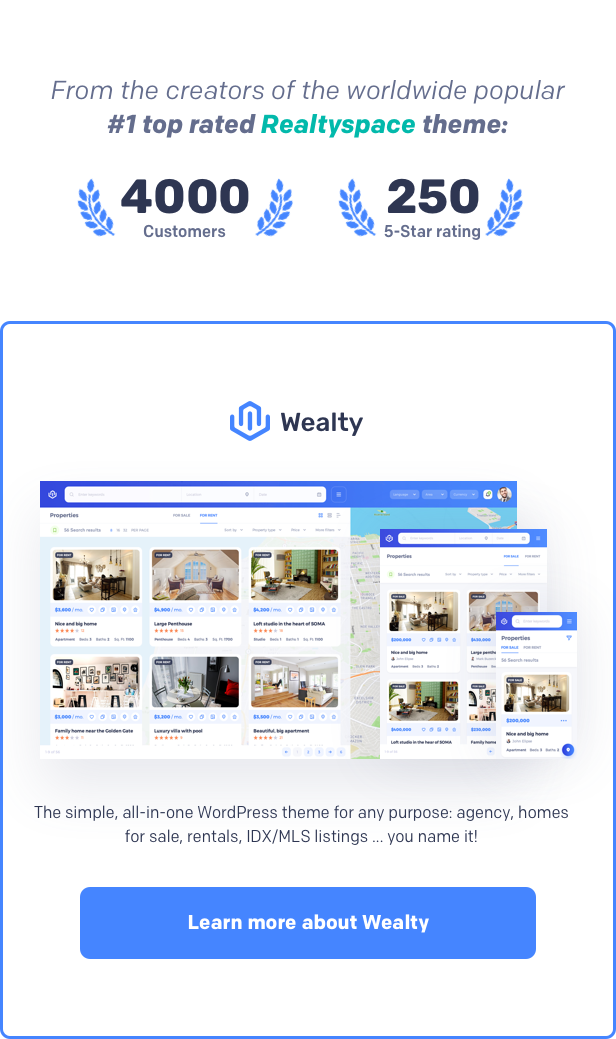 Buy best Real estate WordPress Theme