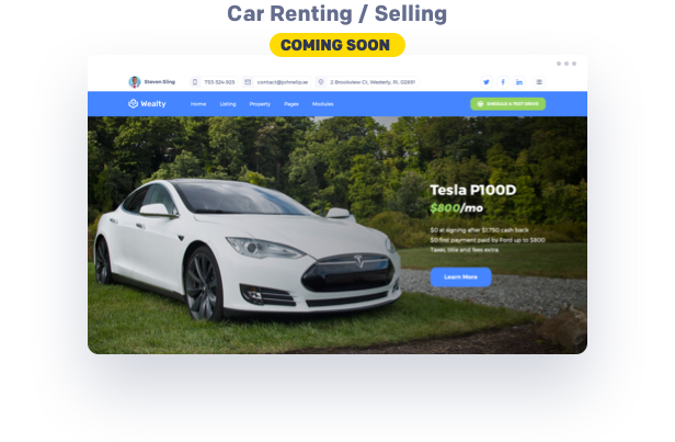 Car Reanting & Selling wordpress template