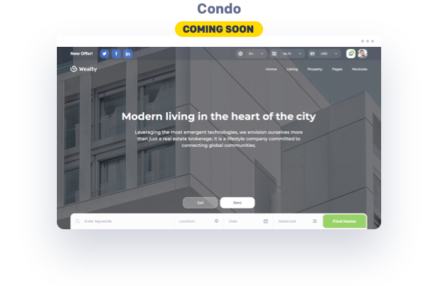 Condo wp website