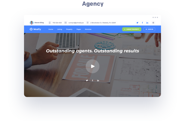 agency real estate wordpress theme