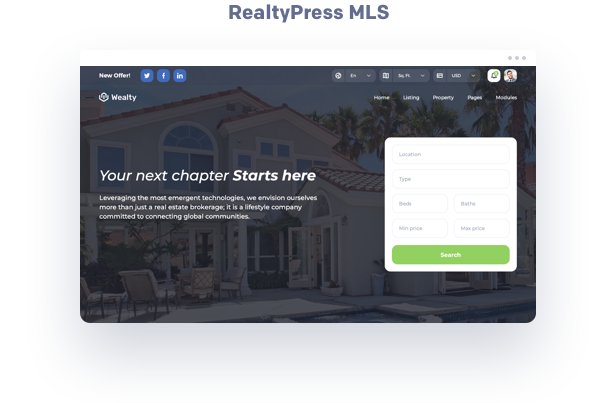 Realtypress MLS Canada real estate wordpress theme