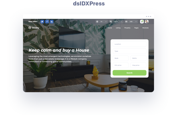 idx mls real estate wordpress