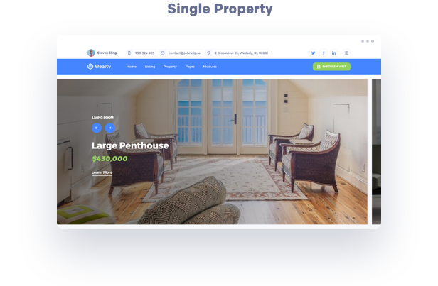 single property estate wordpress theme